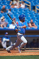 South Bend Cubs third baseman Vimael Machin (16) at bat during a game against the Lake County Captains on July 27, 2016 at Classic Park in Eastlake, Ohio.  Lake County defeated South Bend 5-4.  (Mike Janes/Four Seam Images)