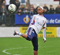 1/2 finale Coupe De France in Arras , stade Degouve : Arras - Olympique Lyonnais Lyon : Elodie Thomis.foto JOKE VUYLSTEKE / Vrouwenteam.be