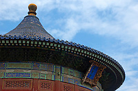 Roof of the Imperial Vault, Temple of Heaven, Beijing, China.