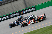 #00: Angela Ruch, Reaume Brothers Racing, Toyota Tundra #51: Chandler Smith, Kyle Busch Motorsports, Toyota Tundra JBL