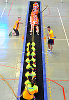 CALI - COLOMBIA - 28-07-2013: Competencia de Batalla de Fuerzas entre Holanda y China Taipei durante los IX Juegos Mundiales Cali, julio 28 de 2013. (Foto: VizzorImage / Cont). Forces Battle Competition between the Netherlands and Chinese Taipei during the IX World Games Cali, July 28, 2013. (Photo: VizzorImage /Cont).