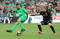 25th September 2021; Saint-Etienne Stade Geoffroy Guichard, France; AS Saint-Etienne versus OGC Nice; Midfield action