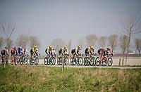 echeleon formation through De Moeren<br /> <br /> 81st Gent-Wevelgem 'in Flanders Fields' 2019<br /> One day race (1.UWT) from Deinze to Wevelgem (BEL/251km)<br /> <br /> ©kramon
