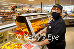 Noreen O'Leary working in Horgan's Centra in Ardfert on Friday.