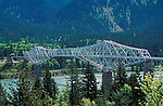 Bridge of the Gods, Columbia River Gorge National Scenic Area; from Washington looking to Oregon. .#2325-0814
