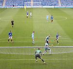 25.07.2020 Rangers v Coventry City: Ryan Kent shoots at goal