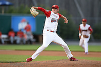 Williamsport Crosscutters pitcher Brandon Leibrandt (37) delivers a pitch during a game against the Aberdeen IronBirds on August 4, 2014 at Bowman Field in Williamsport, Pennsylvania.  Aberdeen defeated Williamsport 6-3.  (Mike Janes/Four Seam Images)