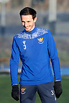 St Johnstone Training…. 06.01.21<br />A happy Scott Tanser pictured during training at McDiarmid Park ahead of Saturday's game against local rivals Dundee Utd.<br />Picture by Graeme Hart.<br />Copyright Perthshire Picture Agency<br />Tel: 01738 623350  Mobile: 07990 594431