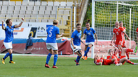 20180302 - LARNACA , CYPRUS : Italian Cristiana Girelli (10) pictured celebrating her goal and the 2-0 lead for Italy during a women's soccer game between Italy and Wales , on friday 2 March 2018 at GSZ Stadium in Larnaca , Cyprus . This is the second game in group A for Italy and Wales during the Cyprus Womens Cup , a prestigious women soccer tournament as a preparation on the World Cup 2019 qualification duels. PHOTO SPORTPIX.BE | DAVID CATRY
