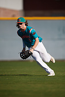 Dylan Crews (9) of Lake Mary High School in Longwood, Florida during the Baseball Factory All-America Pre-Season Tournament, powered by Under Armour, on January 13, 2018 at Sloan Park Complex in Mesa, Arizona.  (Mike Janes/Four Seam Images)