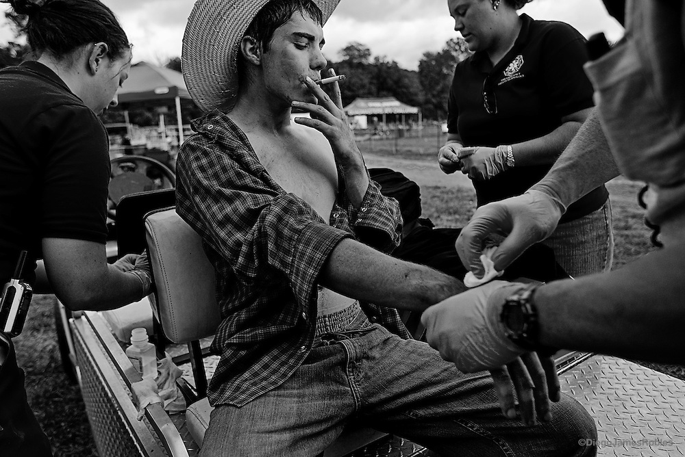 Smoking Teen Bull Rider Diego James Robles