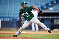 Daytona Tortugas starting pitcher Keury Mella (34) delivers a pitch during a game against the Tampa Yankees on August 5, 2016 at George M. Steinbrenner Field in Tampa, Florida.  Tampa defeated Daytona 7-1.  (Mike Janes/Four Seam Images)