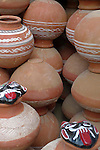 Clay pots  in the Paharganj district of New Delhi, India.