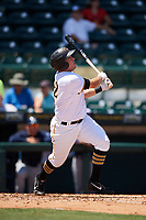 Bradenton Marauders first baseman Will Craig (22) at bat during a game against the Charlotte Stone Crabs on April 9, 2017 at LECOM Park in Bradenton, Florida.  Bradenton defeated Charlotte 5-0.  (Mike Janes/Four Seam Images)