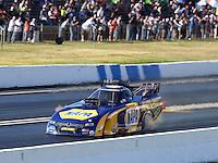 Jun 6, 2015; Englishtown, NJ, USA; NHRA funny car driver Ron Capps during qualifying for the Summernationals at Old Bridge Township Raceway Park. Mandatory Credit: Mark J. Rebilas-
