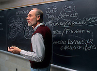 College, professor teaching class in  Political Science