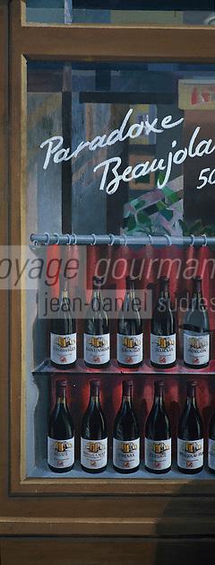 Europe/France/Rhône-Alpes/69/Rhone/Lyon: Mur Peint La Fresque des Lyonnais rue de la Martiniere detail: le Beaujolais [Non destiné à un usage publicitaire - Not intended for an advertising use] [Non destiné à un usage publicitaire - Not intended for an advertising use]