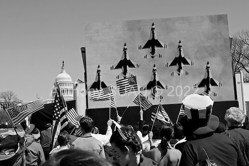 Washington DC.USA.April 12, 2003..A rally to support the troops in the nations capital.