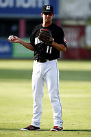 Ryan Walker (11) of the Chattanooga Lookouts warms up prior to the game against the Montgomery Biscuits at AT&T Field on May 23, 2018 in Chattanooga, Tennessee. (Andy Mitchell/Four Seam Images)