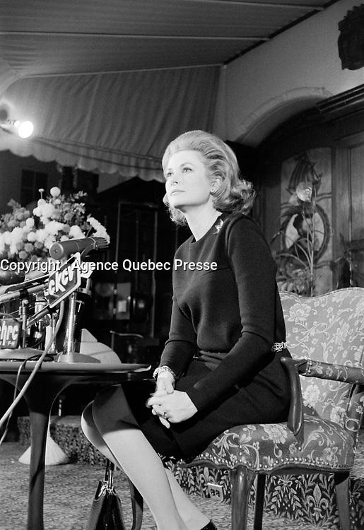 Grace Kelly, princesse Grace de Monaco<br /> en  février 1969, a Quebec<br /> <br /> Photographe : Photo Moderne - Agence Quebec Presse