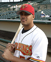 September 5, 2004:  Kevin West of the Rochester Red Wings, Triple-A International League affiliate of the Minnesota Twins, during a game at Frontier Field in Rochester, NY.  Photo by:  Mike Janes/Four Seam Images