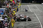 #98: Marco Andretti, Andretti Herta with Marco & Curb-Agajanian Honda pit stop