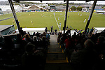 Aberystwyth Town 1 Newtown 2, 17/05/2015. Park Avenue, Europa League Play Off final. The teams kick off for the second half. Aberystwyth finished 14 points above Newtown in the Welsh Premier League, but were beaten 1-2 in the Play Off Final. Photo by Paul Thompson.