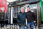 Sean and Mark O'Sullivan (Manager) outside the Cearnog Bar