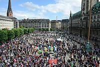 GERMANY, Hamburg, town hall market, protest rally against G-20 summit in july 2017 / DEUTSCHLAND, Hamburg, Rathaus Markt, Protest Demo gegen G20 Gipfel in Hamburg