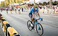 Alejandro Valverde (ESP/Movistar)<br /> post-race on  the Champs-Élysées<br /> <br /> Stage 21 from Mantes-la-Jolie to Paris (122km)<br /> <br /> 107th Tour de France 2020 (2.UWT)<br /> (the 'postponed edition' held in september)<br /> <br /> ©kramon