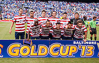 USMNT Starting XI.  The United States defeated El Salvador, 5-1, during the quarterfinals of the CONCACAF Gold Cup at M&T Bank Stadium in Baltimore, MD.