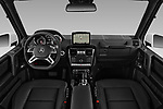 Stock photo of straight dashboard view of a 2018 Mercedes Benz G-Class G550 5 Door SUV