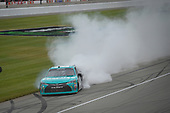 NASCAR XFINITY Series<br /> Irish Hills 250<br /> Michigan International Speedway, Brooklyn, MI USA<br /> Saturday 17 June 2017<br /> Denny Hamlin, Hisense Toyota Camry celebrates with a burnout<br /> World Copyright: Logan Whitton<br /> LAT Images