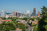 A beautiful summer day in downtown Portland, Oregon.