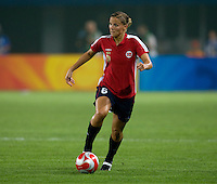 Marie Knutsen. The US lost to Norway, 2-0, during first round play at the 2008 Beijing Olympics in Qinhuangdao, China.