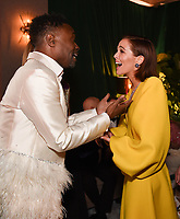BEVERLY HILLS - JANUARY 5: (L-R) FX's POSE cast member Billy Porter and THE POLITICIAN cast member Zoey Deutch attend The Walt Disney Company 2020 Golden Globe Awards Nominee Celebration at The Disney Terrace on the Roof Deck at the Beverly Hilton on January 5, 2020 in Beverly Hills, California. (Photo by Frank Micelotta/The Walt Disney Company/PictureGroup)