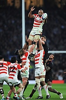 Michael Leitch (c) of Japan wins the lineout during the Quilter International match between England and Japan at Twickenham Stadium on Saturday 17th November 2018 (Photo by Rob Munro/Stewart Communications)