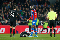Christian Benteke of Crystal Palace claims innocence during the Premier League match between Crystal Palace and Brighton and Hove Albion at Selhurst Park, London, England on 16 December 2019. Photo by Carlton Myrie / PRiME Media Images.