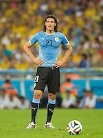 Edinson Cavani of Uruguay looks dejected