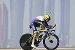 Jan Hirt (CZE) Intermarche-Wanty-Gobert Materiaux during Stage 2 of the 2021 UAE Tour an individual time trial running 13km around  Al Hudayriyat Island, Abu Dhabi, UAE. 22nd February 2021.  <br /> Picture: Eoin Clarke | Cyclefile<br /> <br /> All photos usage must carry mandatory copyright credit (© Cyclefile | Eoin Clarke)
