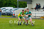 Paudie Lehane Listry is tackled by Sean O'Keeffe Gneeveguilla during their League game in Listry on Sunday