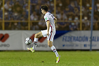 SAN SALVADOR, EL SALVADOR - SEPTEMBER 2: Brenden Aaronson #11 of the United States passes the ball during a game between El Salvador and USMNT at Estadio Cuscatlán on September 2, 2021 in San Salvador, El Salvador.