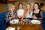 Sarah Cooper, Leonie O'Connor, Laoisha McElligott and Alannah Moss enjoying the evening in the Mall Tavern on Saturday.