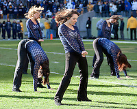 Pitt dance girls. The WVU Mountaineers defeated the Pitt Panthers 35-10 at Heinz Field, Pittsburgh, Pennsylvania on November 26, 2010.