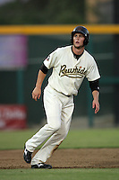 Visalia Rawhide first baseman Bobby Borchering #5 runs the bases   against the Stockton Ports at Recreation Park on July 30, 2011 in Visalia,California. Visalia defeated Stockton 11-2.(Larry Goren/Four Seam Images)