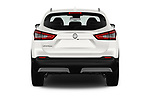 Straight rear view of a 2017 Nissan Qashqai N Connect 5 Door SUV stock images