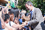 King Felipe VI of Spain during the visit to Arganda del Rey because of the floods that happened in August and September. September 27, 2019. (ALTERPHOTOS/ Francis Gonzalez)