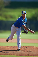 Toronto Blue Jays pitcher Jose Espada (59) during an Instructional League game against the Philadelphia Phillies on October 1, 2016 at the Carpenter Complex in Clearwater, Florida.  (Mike Janes/Four Seam Images)