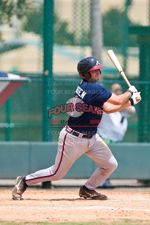 Cory Brownsten of the Gulf Coast League Braves during the game against the Gulf Coast League Tigers July 3 2010 at the Disney Wide World of Sports in Orlando, Florida.  Photo By Scott Jontes/Four Seam Images