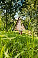 Hikers on Pilgrimsleden trail, West Sweden, Sweden - Västsverige, Sverige